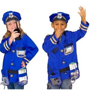 Melissa and Doug police officer halloween costume